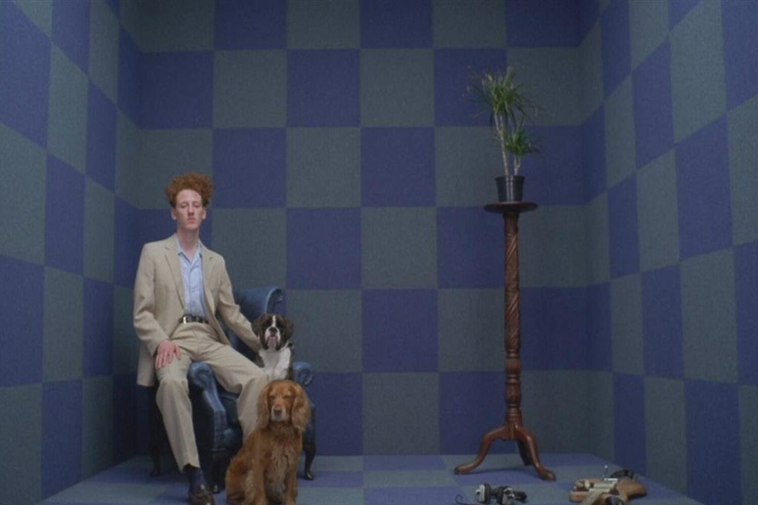 Willie J Healey hangs out in the video for 'People and Their Dogs'