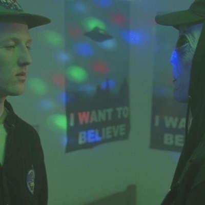 An alien haunts Willie J Healey in his 'Greys' video