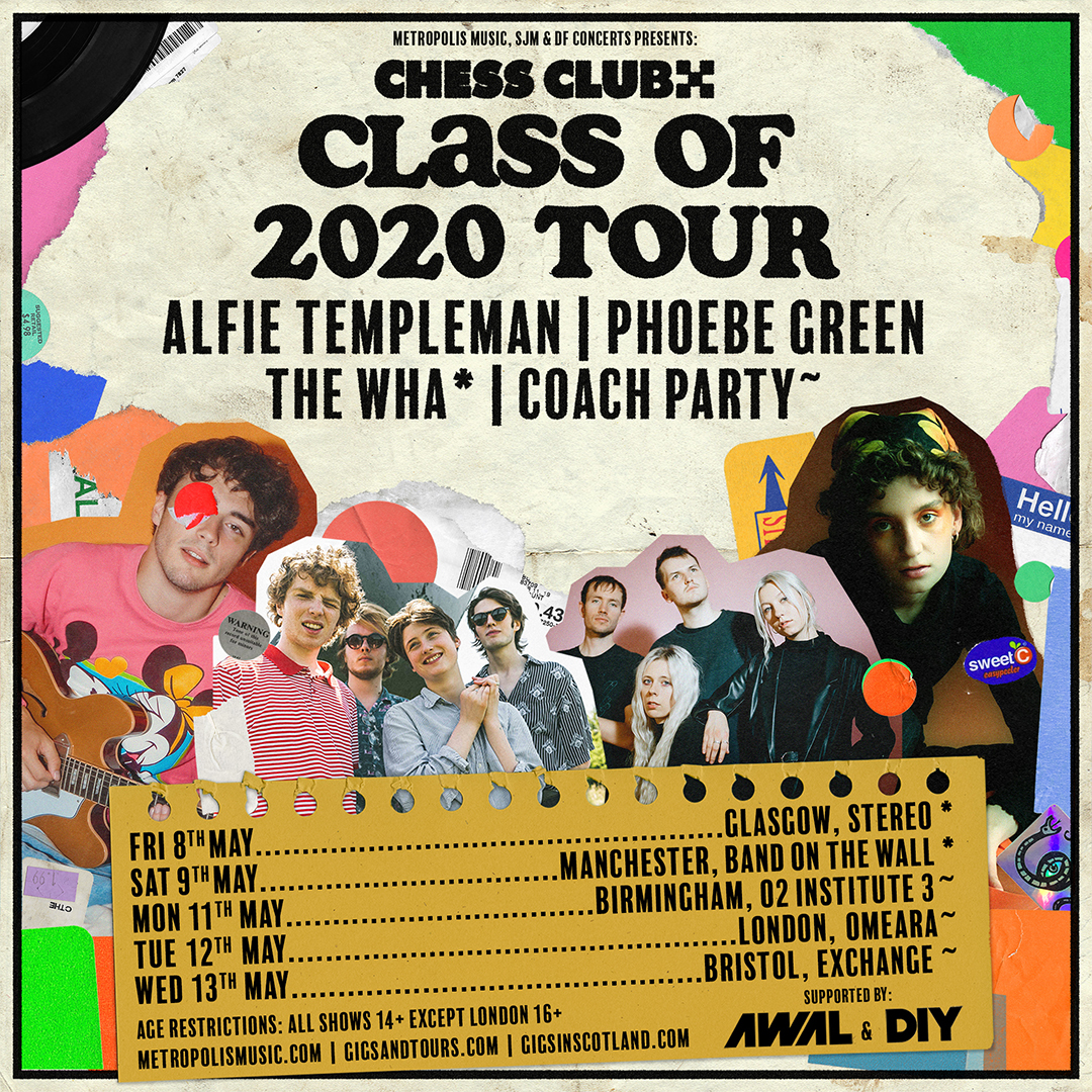 Alfie Templeman, Phoebe Green, Coach Party and The Wha announced for Chess Club Records tour