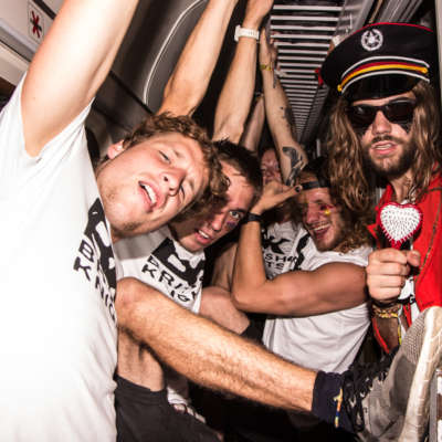 Climb aboard the British Knights Express party train to Sziget Festival