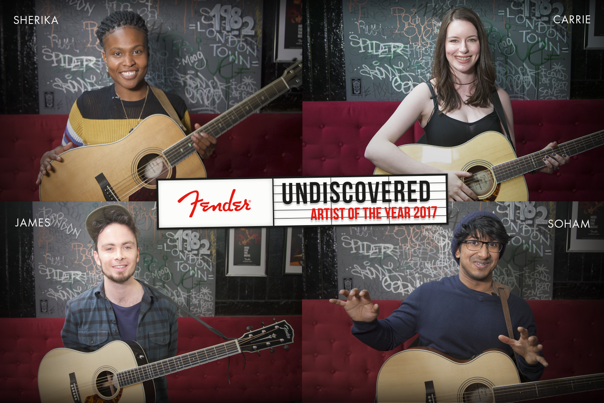 Meet the first four semi-finalists for Fender's Undiscovered Artist of the Year 2017