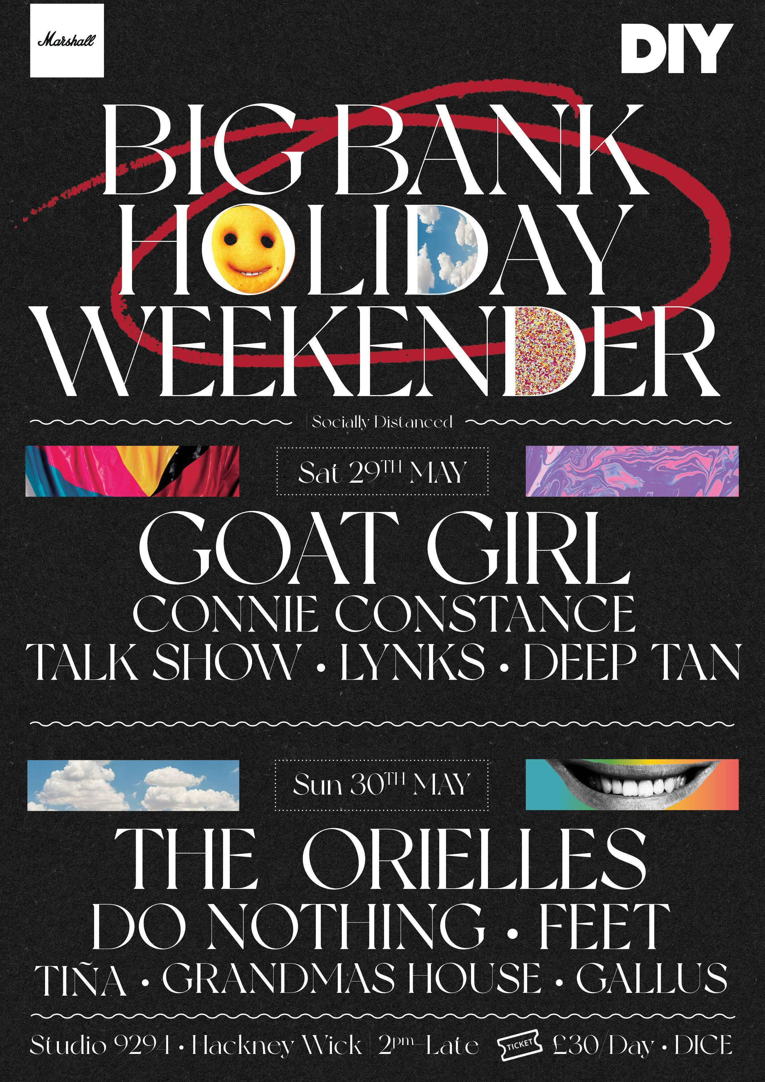 Goat Girl, The Orielles, Do Nothing, Connie Constance & more to play DIY's Big Bank Holiday Weekender