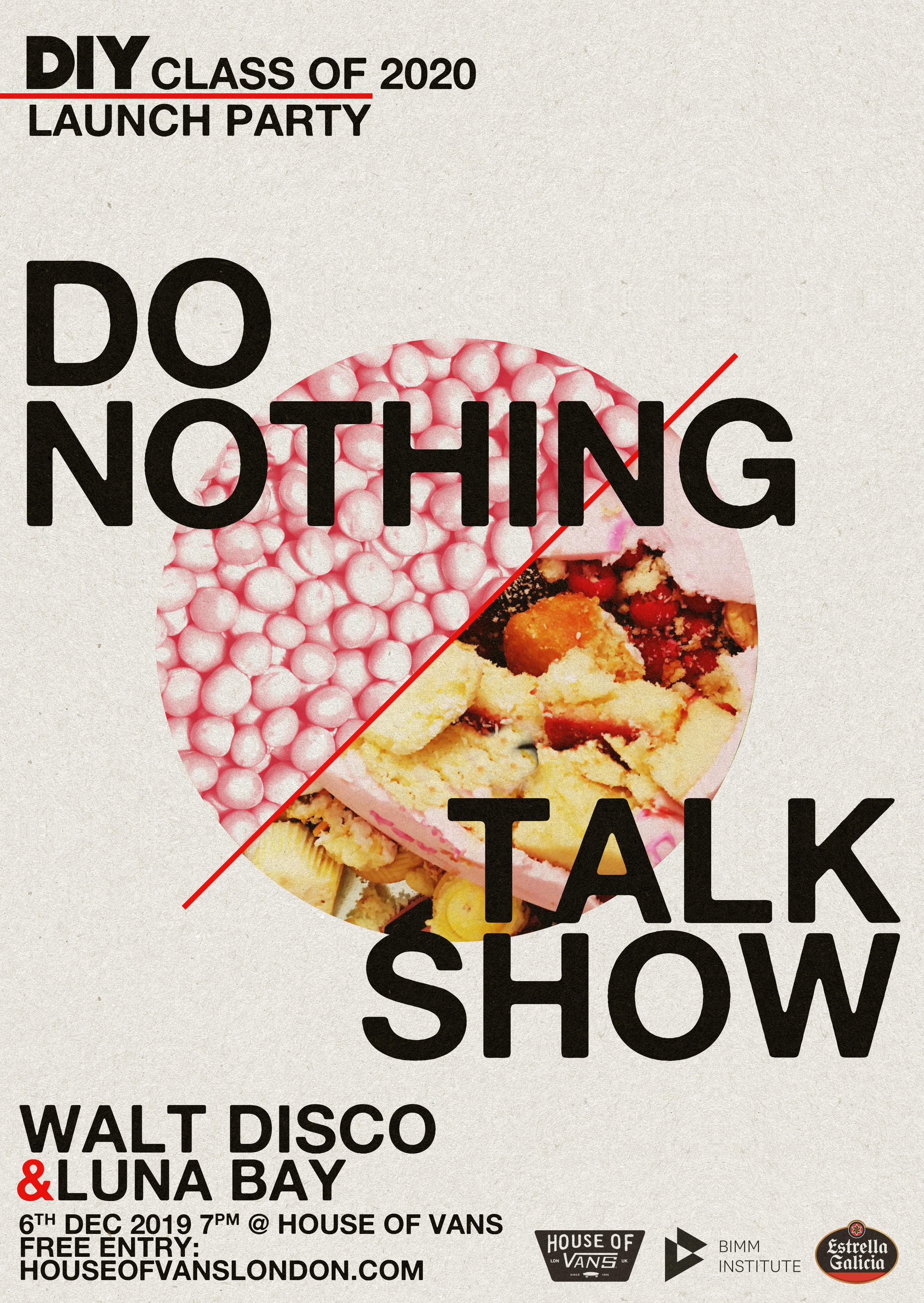 Do Nothing, Talk Show & Walt Disco to play DIY's Class of 2020 launch show!