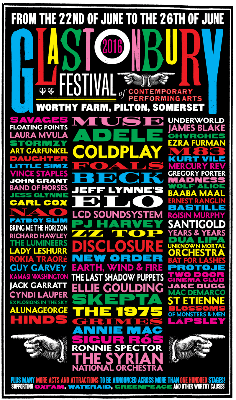 LCD Soundsystem, Foals, The 1975 and more for Glastonbury 2016