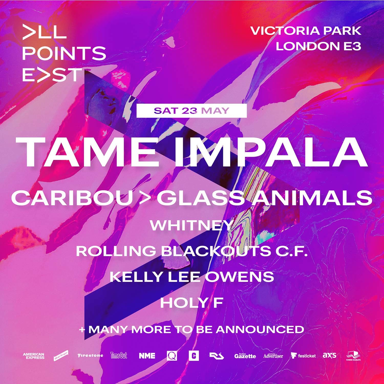 Tame Impala to headline All Points East 2020