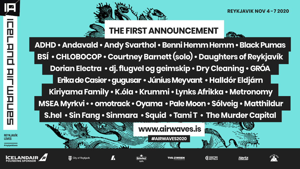 Metronomy, Courtney Barnett, Squid and more announced for Iceland Airwaves 2020