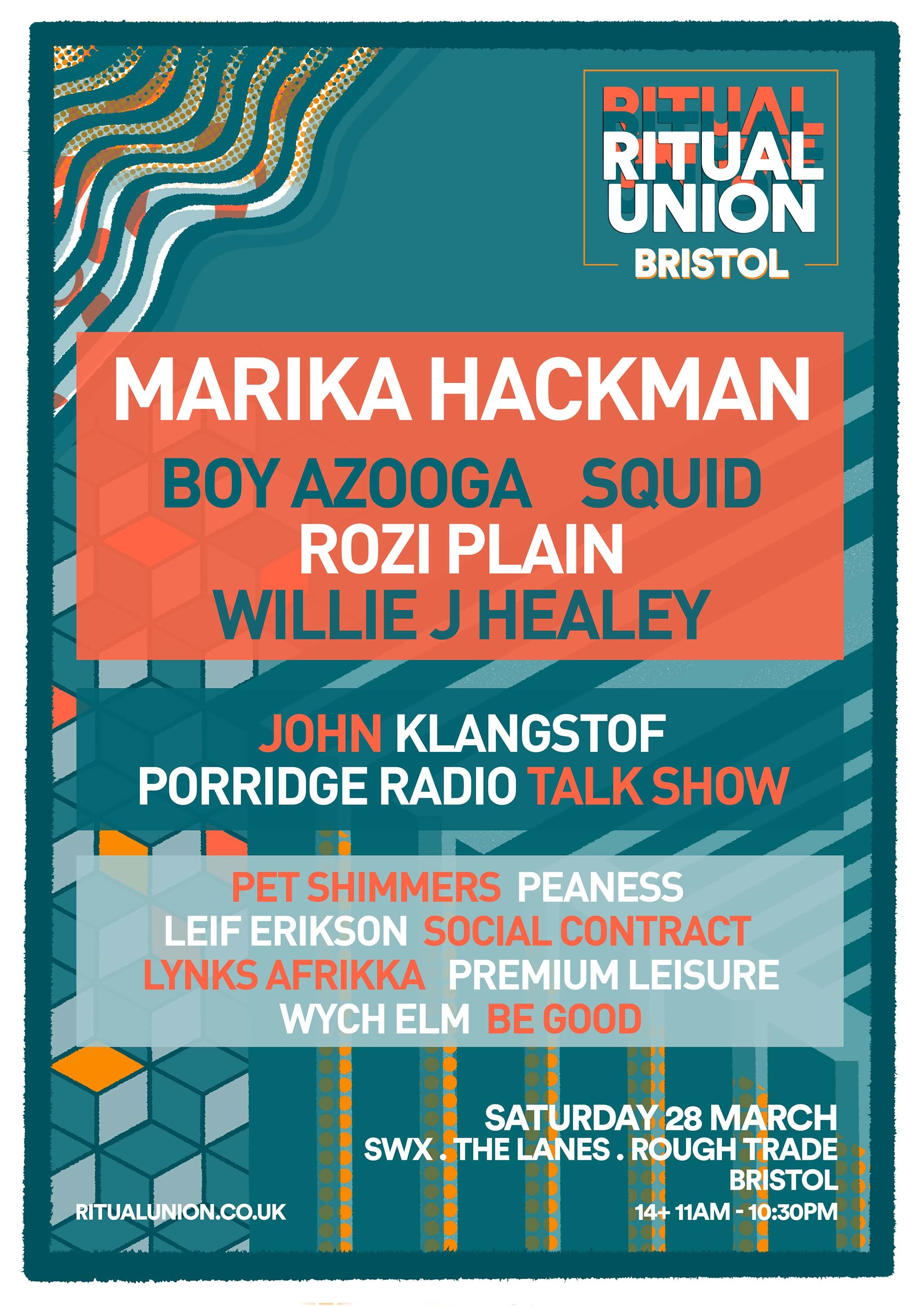 Marika Hackman, Squid, Willie J Healey and more to play Ritual Union Bristol